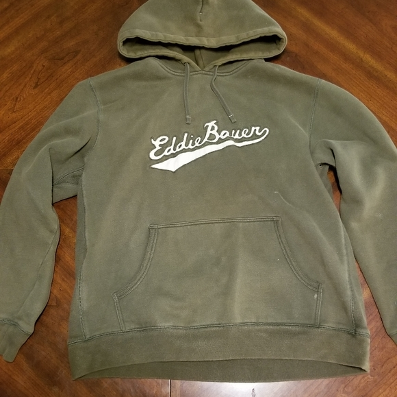 Eddie Bauer Hooded Sweatshirt  Large